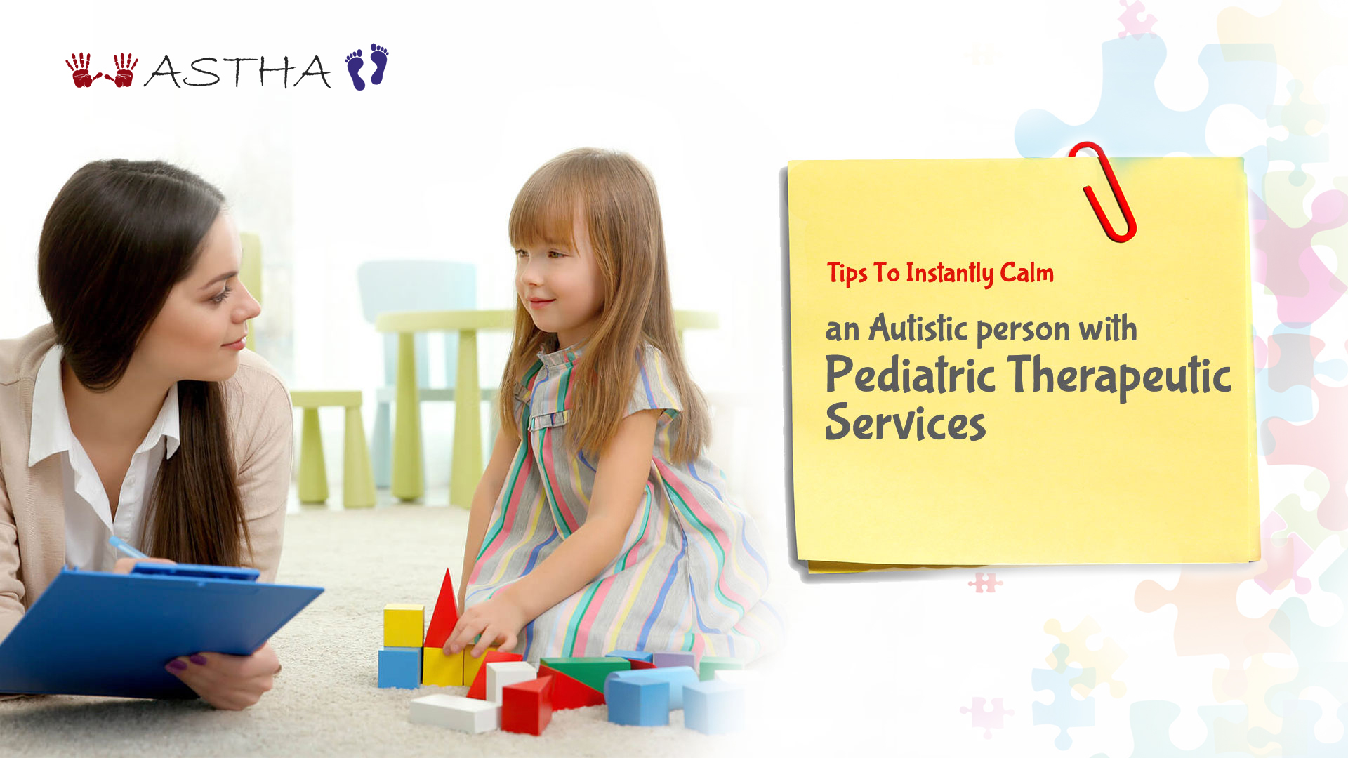 Tips To Instantly Calm An Autistic Person With Pediatric Therapeutic Services